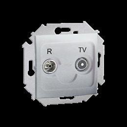 Gniazdo antenowe R-TV zakończeniowe do gniazd przelotowych tłum.:10dB aluminiowy, metalizowany-254699