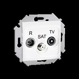 Gniazdo antenowe R-TV-SAT końcowe/zakończeniowe tłum.:1dB biały-254700
