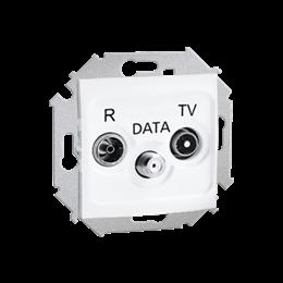 Gniazdo antenowe R-TV-DATA tłum.:10dB biały-254707