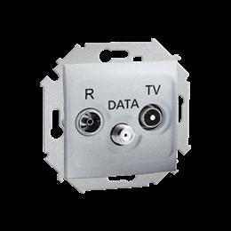 Gniazdo antenowe R-TV-DATA tłum.:10dB aluminiowy, metalizowany-254709