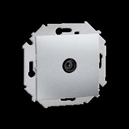 Gniazdo antenowe TV pojedyncze końcowe aluminiowy, metalizowany-254720