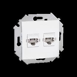 Gniazdo telefoniczne podwójne RJ11 biały-254727