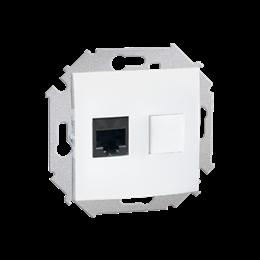 Gniazdo komputerowe pojedyncze RJ45 kategoria 5e biały-254733