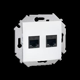Gniazdo komputerowe podwójne RJ45 kategoria 5e biały-254745