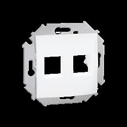 Pokrywa gniazd teleinformatycznych na Keystone płaska podwójna biały-254760