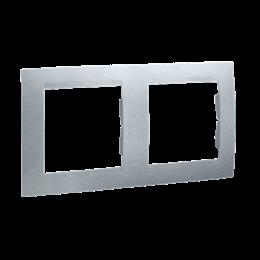 Ramka 2- krotna aluminiowy, metalizowany-254771