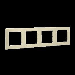 Ramka 4- krotna beżowy-254776