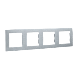Ramka 4- krotna aluminiowy, metalizowany-254777
