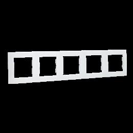 Ramka 5- krotna biały-254789