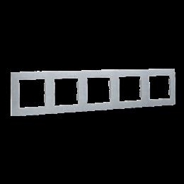 Ramka 5- krotna aluminiowy, metalizowany-254791