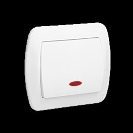 Łącznik jednobiegunowy z podświetleniem biały 10AX-255448