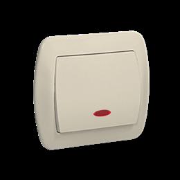 Łącznik jednobiegunowy z podświetleniem beżowy 10AX-255449