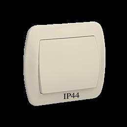 Łącznik jednobiegunowy bryzgoszczelny beżowy 10AX-255445