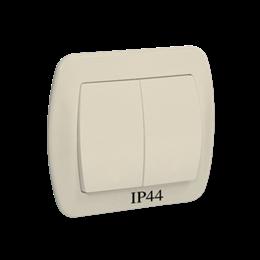 Łącznik świecznikowy z podświetleniem do wersji IP44 beżowy 10AX-255475