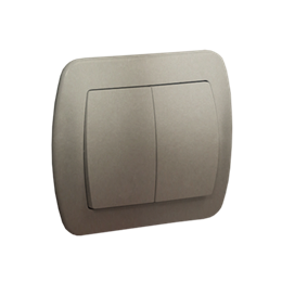 Łącznik schodowy podwójny satynowy, metalizowany 10AX-255493