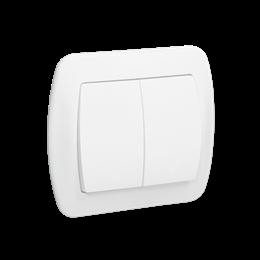 Łącznik schodowy podwójny z podświetleniem biały 10AX-255494