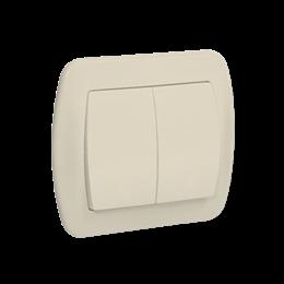 Łącznik schodowy podwójny z podświetleniem beżowy 10AX-255495