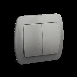 Łącznik schodowy podwójny z podświetleniem aluminiowy, metalizowany 10AX-255496
