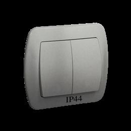 Łącznik schodowy podwójny bryzgoszczelny IP44 aluminiowy, metalizowany 10AX-255500
