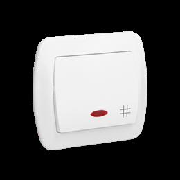 Łącznik krzyżowy z podświetleniem biały 10AX-255518