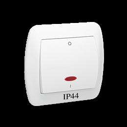 Łącznik dwubiegunowy z podświetleniem bryzgoszczelny biały 10AX-255575