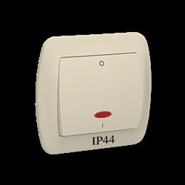 Łącznik dwubiegunowy z podświetleniem bryzgoszczelny beżowy 10AX-255576
