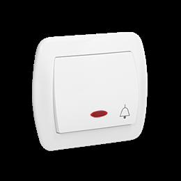 """Przycisk """"dzwonek"""" z podświetleniem biały 10AX-255547"""