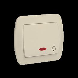 """Przycisk """"dzwonek"""" z podświetleniem beżowy 10AX-255548"""