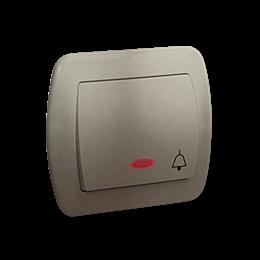 """Przycisk """"dzwonek"""" z podświetleniem satynowy, metalizowany 10AX-255550"""