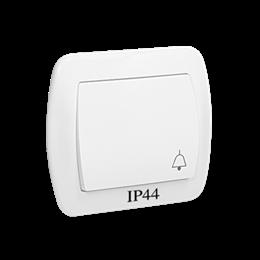 """Przycisk """"dzwonek"""" bryzgoszczelny biały 10AX-255543"""