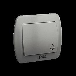 """Przycisk """"dzwonek"""" bryzgoszczelny aluminiowy, metalizowany 10AX-255545"""
