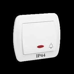 """Przycisk """"dzwonek"""" z podświetleniem bryzgoszczelny biały 10AX-255551"""