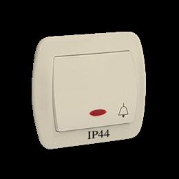 """Przycisk """"dzwonek"""" z podświetleniem bryzgoszczelny beżowy 10AX-255552"""