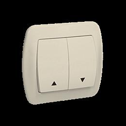 Przycisk żaluzjowy pojedynczy beżowy 10A-255556