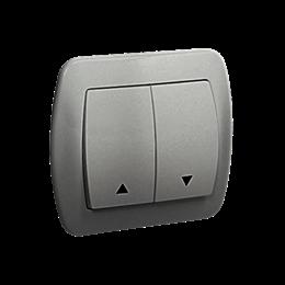 Przycisk żaluzjowy pojedynczy aluminiowy, metalizowany 10A-255557
