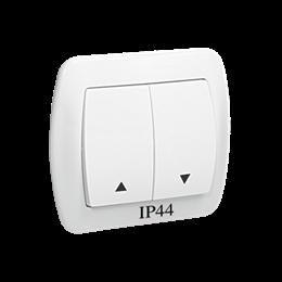 Przycisk żaluzjowy pojedynczy bryzgoszczelny biały 10A-255559