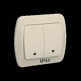Przycisk żaluzjowy pojedynczy bryzgoszczelny beżowy 10A-255560