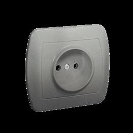 Gniazdo wtyczkowe pojedyncze bez uziemienia aluminiowy, metalizowany 16A-255593