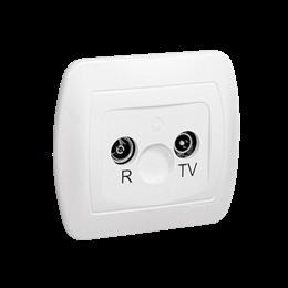Gniazdo antenowe R-TV końcowe separowane tłum.:1dB biały-255636