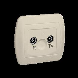Gniazdo antenowe R-TV końcowe separowane tłum.:1dB beżowy-255637