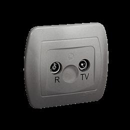 Gniazdo antenowe R-TV końcowe separowane tłum.:1dB aluminiowy, metalizowany-255638