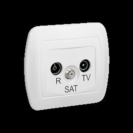 Gniazdo antenowe R-TV-SAT przelotowe tłum.:10dB biały-255648