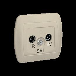 Gniazdo antenowe R-TV-SAT przelotowe tłum.:10dB beżowy-255649