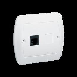 Gniazdo telefoniczne pojedyncze RJ11 biały-255672