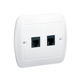 Gniazdo telefoniczne podwójne RJ11 biały-255676