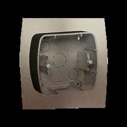 Puszka natynkowa 1-krotna satynowy, metalizowany-255704