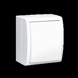 Łącznik jednobiegunowy bryzgoszczelny biały 10AX-255685
