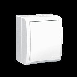 Łącznik jednobiegunowy z podświetleniem bryzgoszczelny biały 10AX-255686