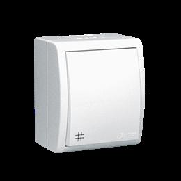 Łącznik krzyżowy z podświetleniem bryzgoszczelny biały 10AX-255713