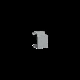 Zaślepka otworu wtyku RJ45/RJ12  pokrywy gniazda teleinformatycznego aluminiowy, metalizowany-254209